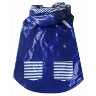 Navy Stripe Reversible Raincoat