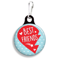 Best Friends Heart Left Collar Charm