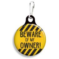 Beware of My Owner Collar Charm