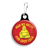 Rub my Belly Collar Charm