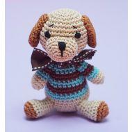 Crochet Blue Dog Toy
