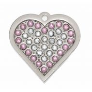 Crystal Pink Heart Tag