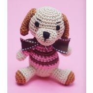 Crochet Pink Dog Toy