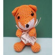 Organic Handmade Fox Dog Toy