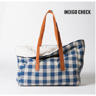Viva Bag/ Linen - Indigo Check