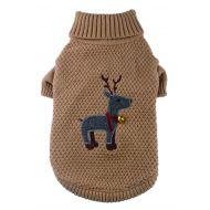 Tweed Reindeer Sweater