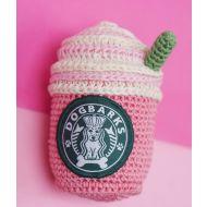 Crochet Strawbery Latte Dog Toy