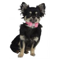 Suede Bow Collar