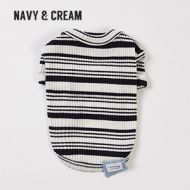 Sweet Tee Navy & Cream