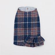 Harris Tweed Ruffle Blue Coat