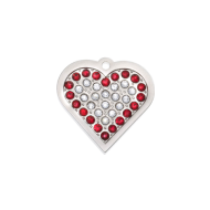 Crystal Red Heart Tag