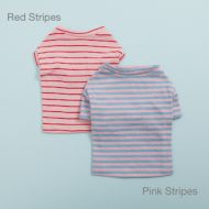 Tee N Sleeveless Red and Pink Stripes