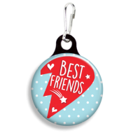 Best Friends Heart Right Collar Charm