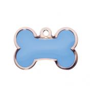 Blue Enamel Bone Tag