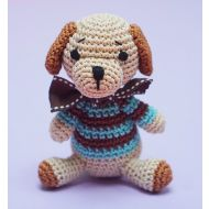 Crochet Blue Dog Toy