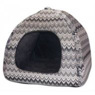 Monochrome Kaleidoscope Cat Dome Bed