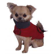Bone Dog Trench Coat Red