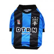 Dog Football Shirt - Black and Blue