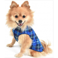 Stretch Fleece - Blue Plaid & Mulberry Plaid