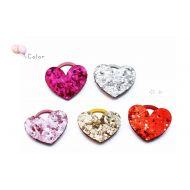 Glitter Heart Elastic