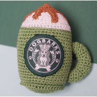 Crochet Latte Dog Toy