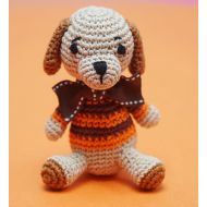 Crochet Orange Dog Toy