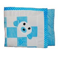 Patchwork Puppy Blanket Blue