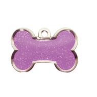 Purple Sparkle Bone Tag