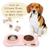 Silicone Diner Pink-Large