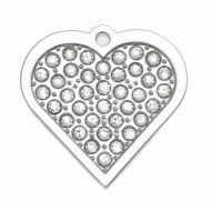 Crystal Heart Tag